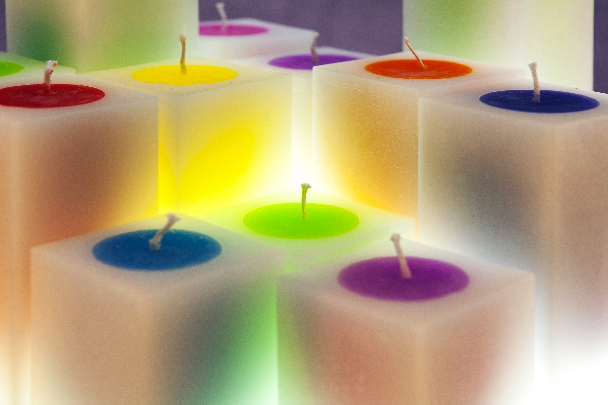 Glow Worm cored candles
