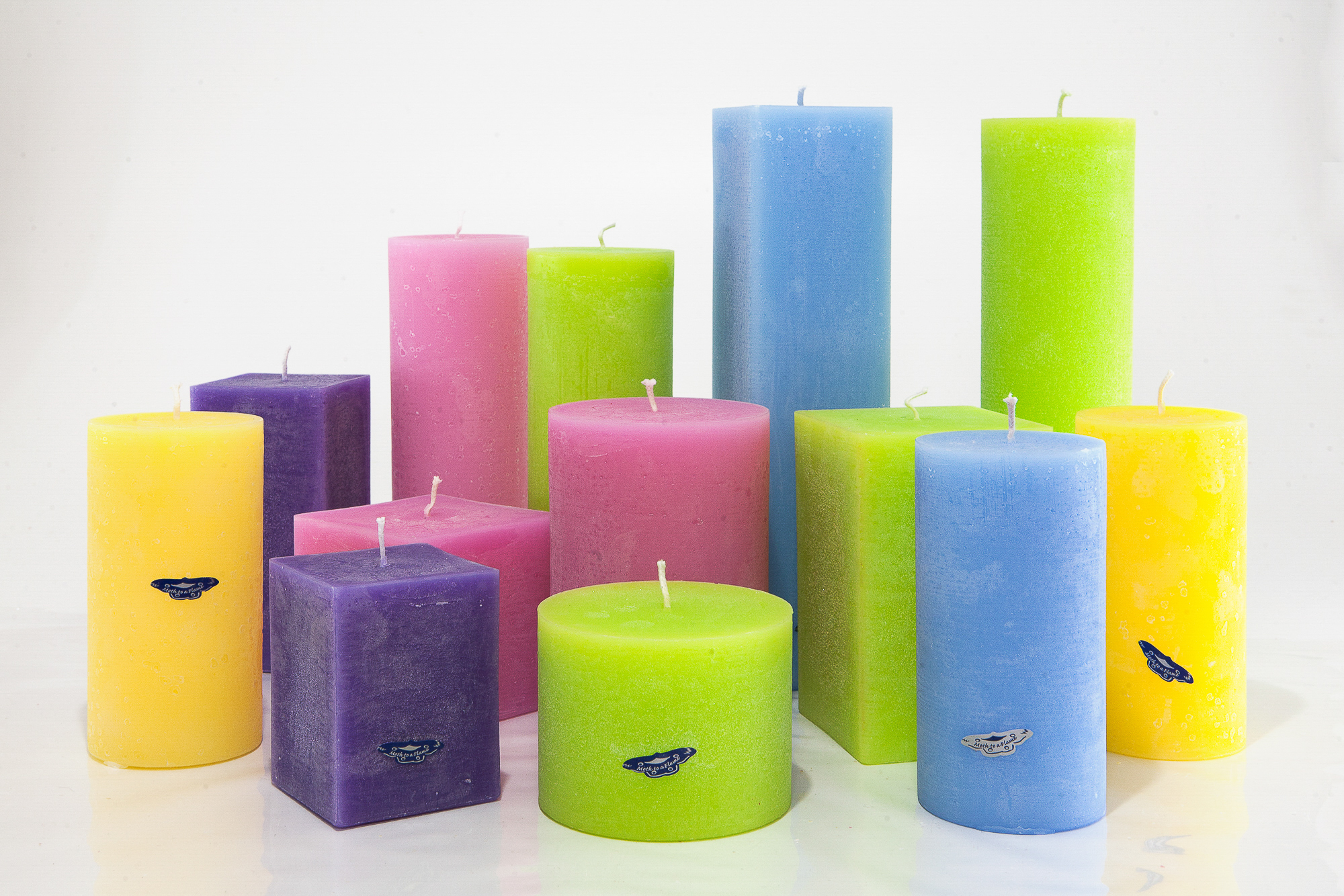 Colour Therapy & Spa candles, Ireland