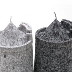 candles, round tower, irish round tower, oratory, handmade,