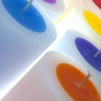 gloworm coloured core candles, ireland, handmade, candles,