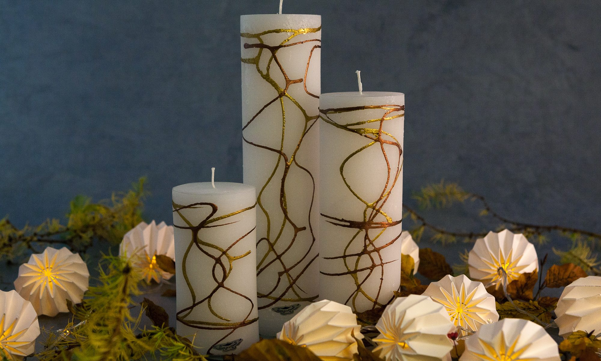 lacquered candles, handmade, gypsy moth,