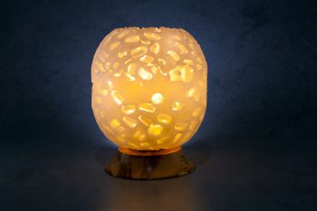 ivory lunar globe, wax lantern, handmade, ireland,