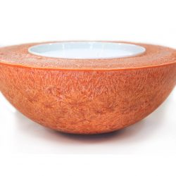 nested crystal wax bowl, handmade, ireland, candles,