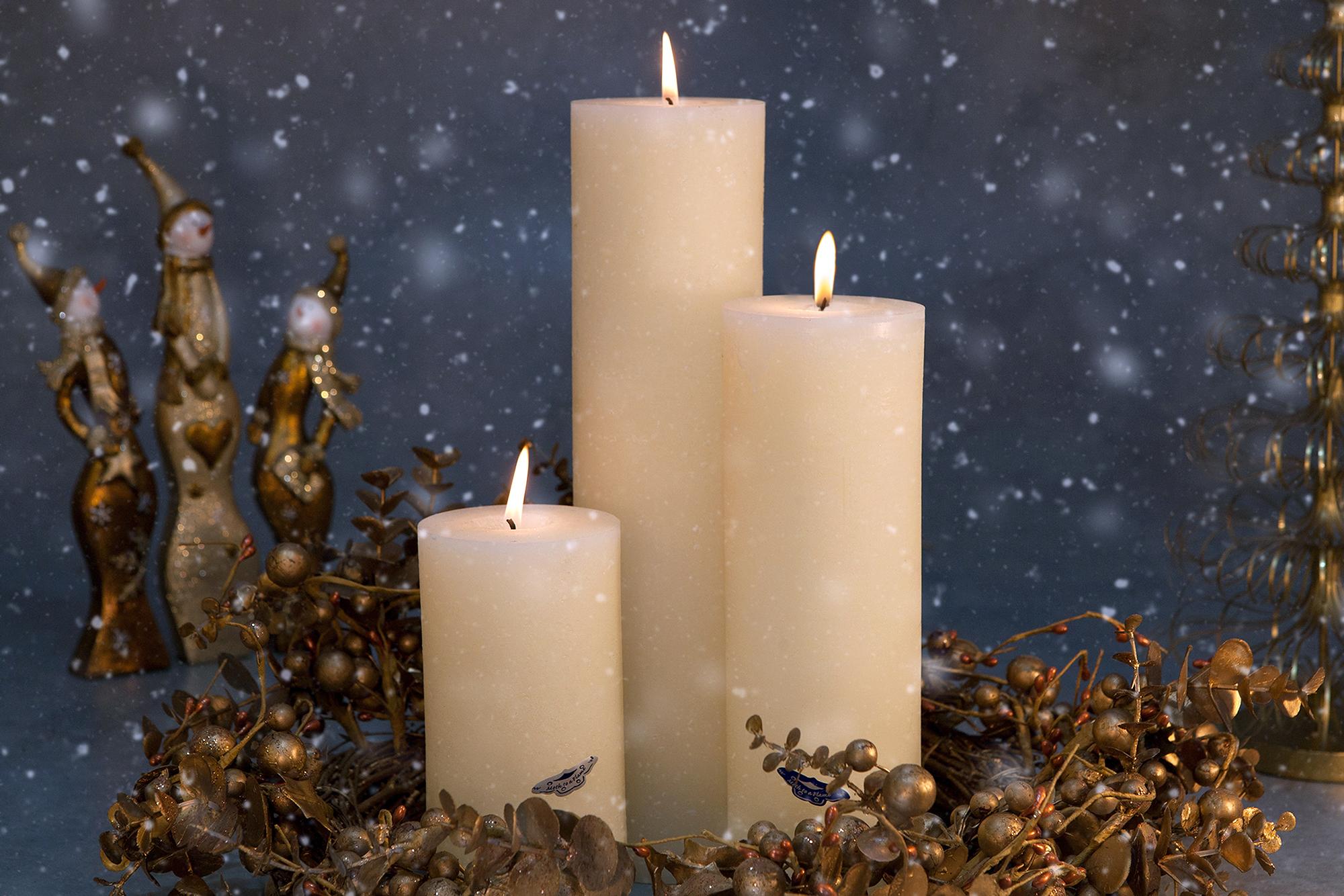 ivory pillar candles, handmade, ireland, kilkenny, dublin,